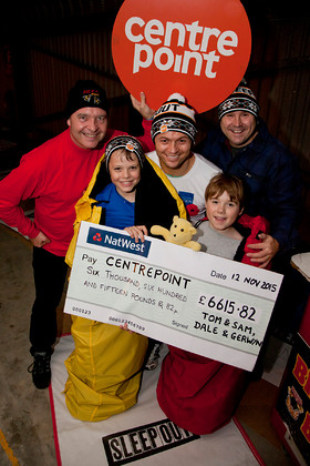 Sleep Out Bradford Centrepoint Bradford Bulls
