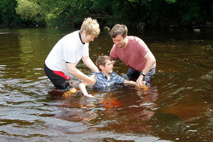 Sorted Church Army Young Peoples Baptism in River Wharfe Ilkley