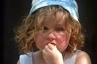 Portrait of child   Portrait of child   Keywords: portrait girl child in blue hat